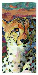 Cheetah Face Hand Towel
