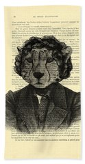 Cheetah On Dictionary Book Page Hand Towel