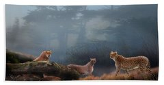 Cheetahs In The Mist Bath Towel