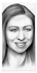 Chelsea Clinton Hand Towel by Greg Joens