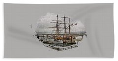 Chelsea Rose And Tall Ships Hand Towel