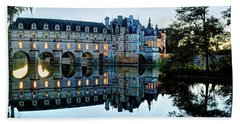 Chenonceau Twilight In Blue - Vintage Version Hand Towel