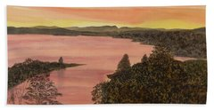 Cherokee Lake - Golden Glow Bath Towel