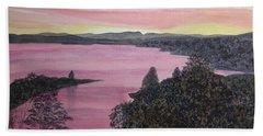 Cherokee Lake Sunset Bath Towel by Joel Deutsch