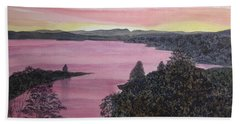 Cherokee Lake Sunset Bath Towel