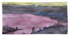 Cherokee Lake - Watercolor Sketch  Bath Towel by Joel Deutsch