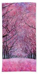 Bath Towel featuring the painting Cherry Blast by Hailey E Herrera