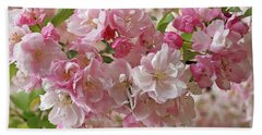 Bath Towel featuring the photograph Cherry Blossom Closeup by Gill Billington