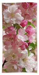 Hand Towel featuring the photograph Cherry Blossom Closeup Vertical by Gill Billington