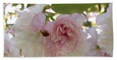 Cherry Blossom Lady Bug Hand Towel