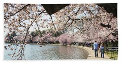Cherry Blossom Stroll Around The Tidal Basin Hand Towel