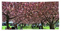 Cherry Blossom Trees Of B B G # 7 Bath Towel