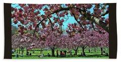 Cherry Blossom Trees Of B B G #2 Hand Towel