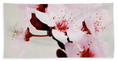Hand Towel featuring the mixed media Cherry Blossoms 1- Art By Linda Woods by Linda Woods
