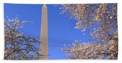 Cherry Blossoms And Washington Hand Towel