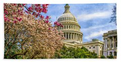 Cherry Blossoms At The Capitol Hand Towel