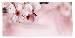Cherry Blossoms In Bloom  Bath Towel
