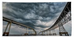 Chesapeake Bay Bridge Storm Hand Towel
