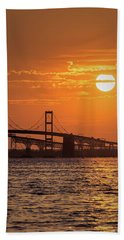Chesapeake Bay Bridge Sunset II Bath Towel