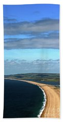 Hand Towel featuring the photograph Chesil Beach by Baggieoldboy
