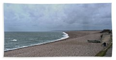Chesil Beach November 2013 Hand Towel by Anne Kotan