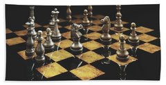 Chess The Art Game Bath Towel by Sheila Mcdonald