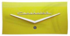 Chevrolet Bel Air In Yellow Bath Towel by Toni Hopper