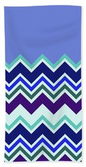 Chevron Lavender Turquoise Blue Purple Zigzag Pattern Bath Towel
