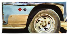 Bath Towel featuring the photograph Chevy Deluxe by Lou Novick