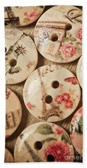 Chic Button Boutique Hand Towel