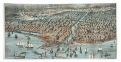 Chicago As It Was 1872 Hand Towel