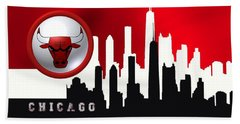 Hand Towel featuring the digital art Chicago Bulls by Alberto RuiZ