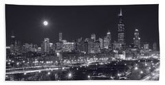 Chicago By Night Hand Towel