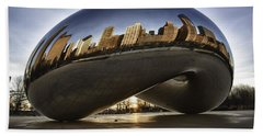Chicago Cloud Gate At Sunrise Hand Towel