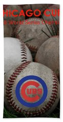 Chicago Cubs World Series Poster Bath Towel