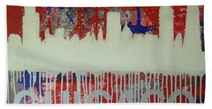Hand Towel featuring the painting Chicago Drip by Melissa Goodrich