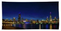 Chicago From Adler Planetarium Hand Towel
