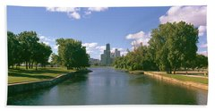 Chicago From Lincoln Park, Illinois Hand Towel by Panoramic Images