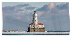Chicago Harbor Lighthouse Bath Towel