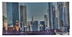 Chicago River East Hand Towel