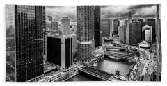 Chicago River View  Hand Towel