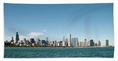 Chicago Skyline Hand Towel by John Black