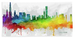 Chicago Skyline Mmr-usilch05 Hand Towel by Aged Pixel