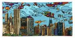 Chicago Skyline Panorama Hand Towel
