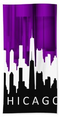 Chicago Violet In Negative Bath Towel
