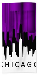 Chicago Violet Vertical  Bath Towel