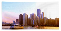 Chicago Waterfront 1 Hand Towel