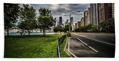 Chicago's Lake Shore Drive Hand Towel