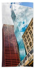 Chicago's South Wabash Avenue  Bath Towel by Semmick Photo