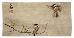 Chickadee Encounter II Bath Towel